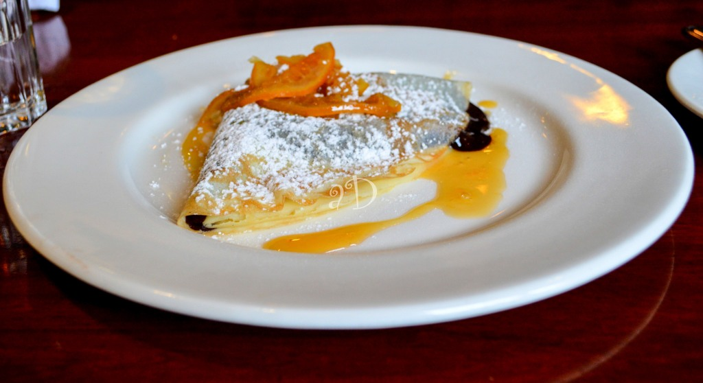 Belgian chocolate and hazelnut crepe with zesty orange and Cointreau, At Cafe Mezunna, Forum Mall