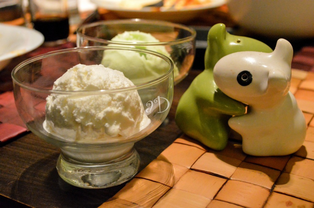 Coconut and wsabi icecream, At Sushi Oke, Theatre Road
