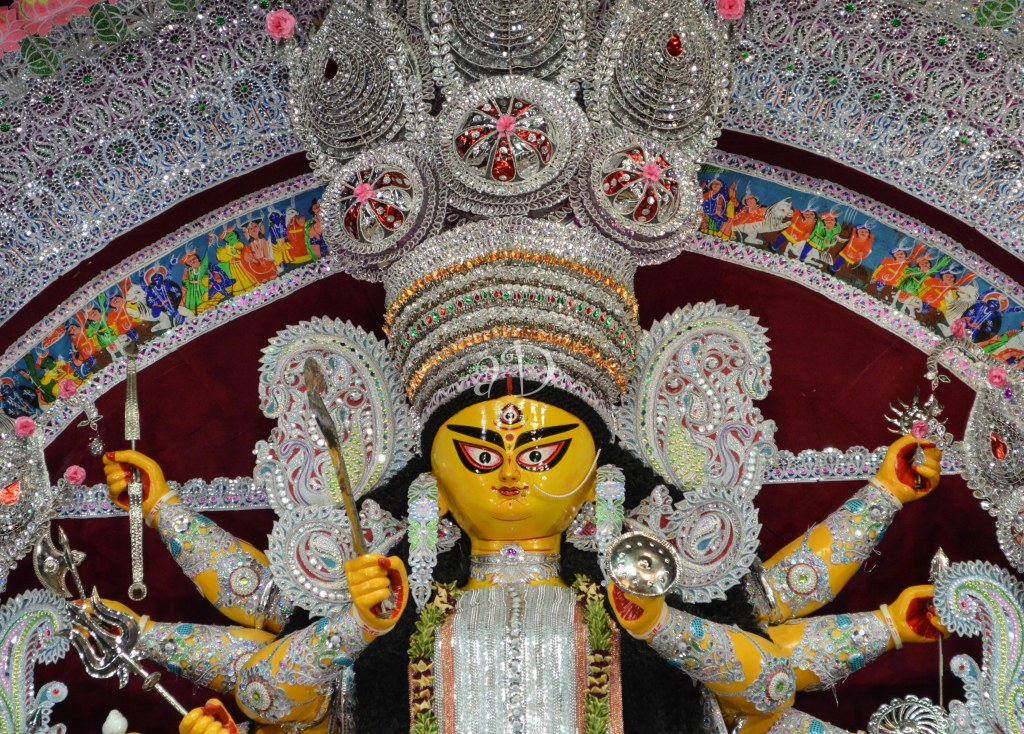 One of those few Pujas which has refrained from entering the battle of themes, and has held on to its old world charm....The legacy continues at Bagbazar Sarbojanin Durgotsav
