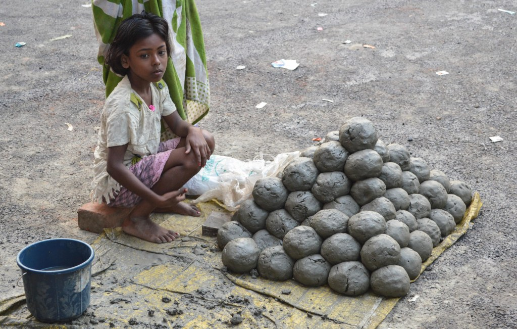 Mounds of Earth being sold for the Rituals