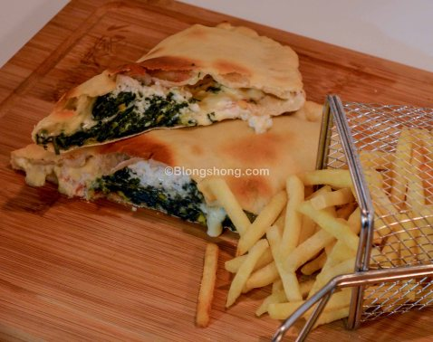 Dolce Vita- Spinach and corn with ricotta in Pizza Bread